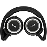 AKG K451 High-Performance Foldable Portable Mini Soft Cushioned Headphones with In-Line Volume Remote and Microphone Compatible with iOS Apple Devices - Black