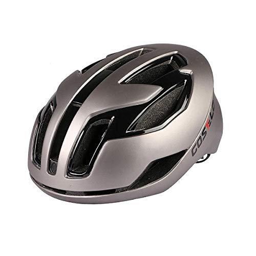 Radfahren Licht Helm MTB Rennrad Helm Fahrrad Ultraleicht Helm Casque de Velo Casco da bici Casco Safe Männer Frauen-grau