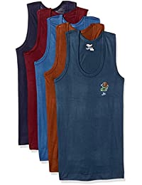 Rupa Jon Boys' Cotton Vest (Pack of 5)