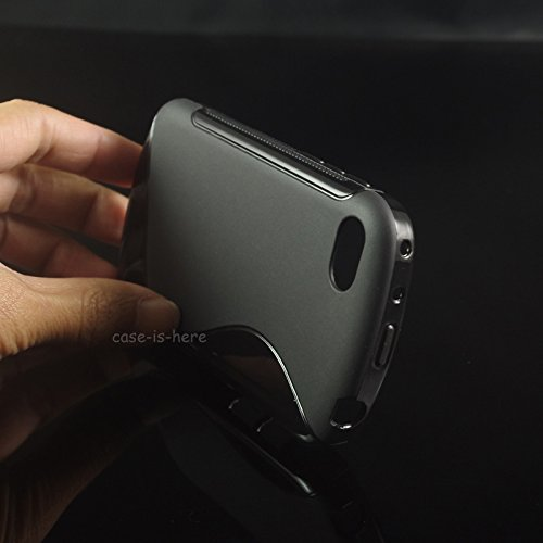 Micromax Canvas Juice 4 Back Cover , [q382] S-Line Black Soft Silicon Back Cover Case  available at amazon for Rs.179