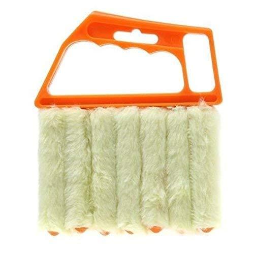 ALIXIN-CP030 Rollo von Werkzeug,Mini Hand, mini-blind Reiniger,Fensterläden Schmutz reinigen Reiniger,waschbar Jalousie Bürste Fenster Klimaanlage Duster Reiniger,Handgerät Haushalt Werkzeug(orange) (Mini Blinds)