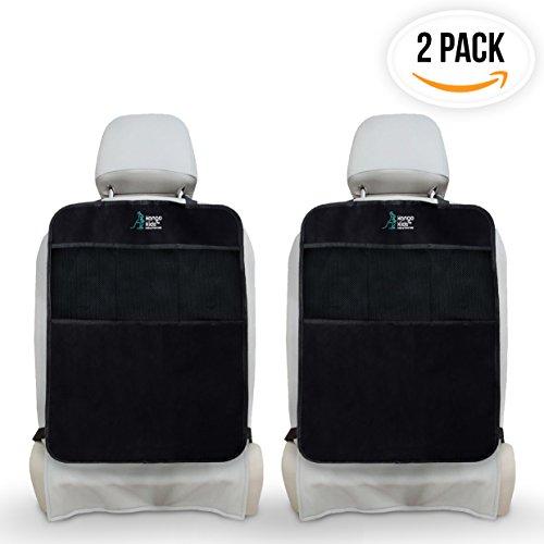 Preisvergleich Produktbild Ultimativer Sitzschutz für Autositze x2 zum Schutz Ihrer Autopolster - Wasserdichter Rückenlehnenschutz mit Rückenlehnen-Tasche – Robuster Rücksitzschoner zum Schutz vor Tritten und Flecken