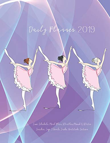 Daily Planner 2019 Time Schedule, Meal Plan, Weather/Mood & Water Tracker, Top 3 Goals, Tasks, Gratitude Section: Ballet Dancers on Holographic ... Calendars, Monthly Planner and Notes - Top Kostüm Für Jugendliche
