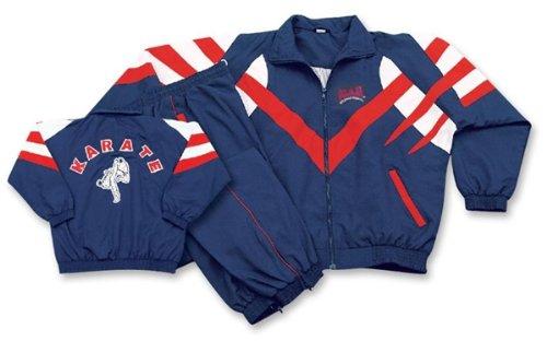 M.A.R International Ltd Track Suit Sport Uniform Anzug Outfit Kleidung Gear Martial Arts xl marineblau Fleece Track Jacke Kinder