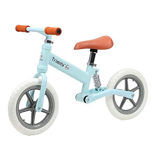 MLSH Kid\'s Balance Bike, Ultra-Light 2-6 Anni Ragazzi Ragazze Bambini Outdoor Training Sport Bicicletta, No Pedal Eva Ruote Bielle Regolabili, Bicicletta da Passeggio