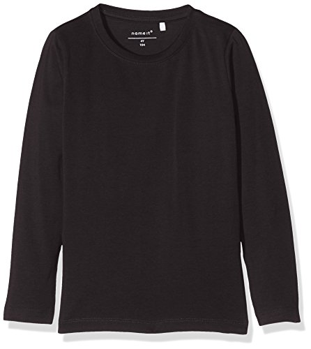 NAME IT Baby-Jungen NKMVILLUM LS TOP NOOS Langarmshirt, Schwarz (Black), 80