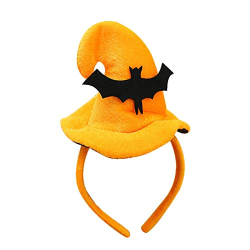 Libertroy Halloween-Dekoration-Nette Halloween-Kopf-Band-Kürbis-Haarband-Kürbis-Hut scherzt Kinderhexe-Hut-Haar-Zusatz-Halloween-dekoratives Stirnband-Halloween-Dekor