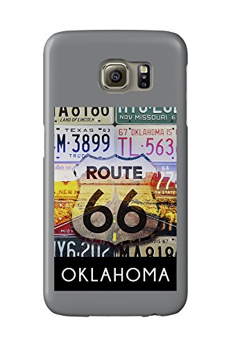 Oklahoma - Route 66 License Plates (Galaxy S6 Cell Phone Case, Slim Barely There)