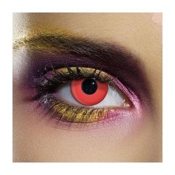 Paio di lenti a contatto colorate rosse lenti a contatto unisex rosse finte senza diottrie in soluzione salina wildcat durata 3 mesi lenti a contatto per carnevale e halloween o scherzo lenti a contatto decorative