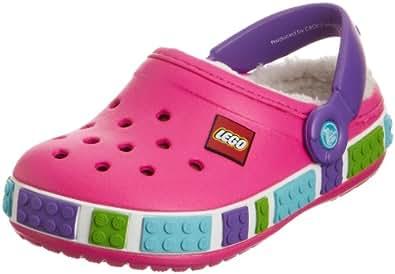 Crocs Crocband Mammoth Lego, Unisex-Child Clogs, Pink (Neon Magenta/Neon Purple), 12/13 UK Child