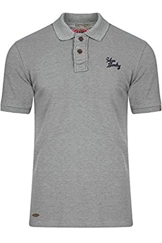 Tokyo Laundry Mens Willowood Polo Shirt - Light Grey - Large