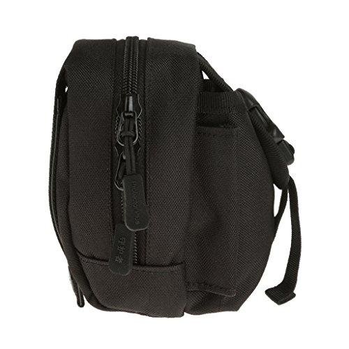 Außen Molle Taktische Tasche Gürteltasche Telefon Gürtelschlaufe Bum Hüfttasche Bag fuer Camping Outdoor Sport Schwarz