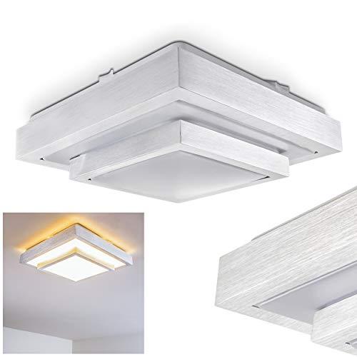 Plafoniera led design moderno modello sora- lampada da soffitto forma quadrata lineare ideale per soggiorno- luce bianca calda adatta a camera da letto