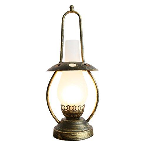 Preisvergleich Produktbild WSXXN Vintage Nostalgische Schmiedeeisen Kerosin Lampe Pferd Lampe Tischlampe,  kreative Studie Wohnzimmer Schlafzimmer Nachttisch Beleuchtung (E27)