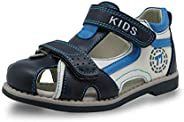 Summer Kids Shoes Brand Closed Toe Toddler Boys Sandals Orthopedic Sport Pu Leather Babykid Sandals Shoes