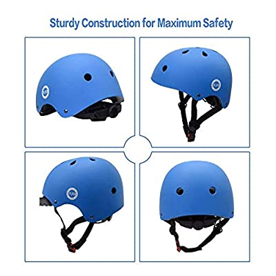 XJD Toddler Helmet Kids Bike Helmet Adjustable Skateboard Helmet Impact Resistance Ventilation Multi-Sports Skateboard Bicycle Scooter Rollerskate BMX Cycling Age 3-13 Years Old Boys Girls by XJD