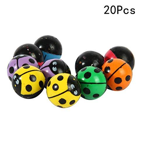 YeahiBaby 20 stück Springbälle Gummiball Bouncy Balls Kinder Spielzeug (zufällige Farbe)