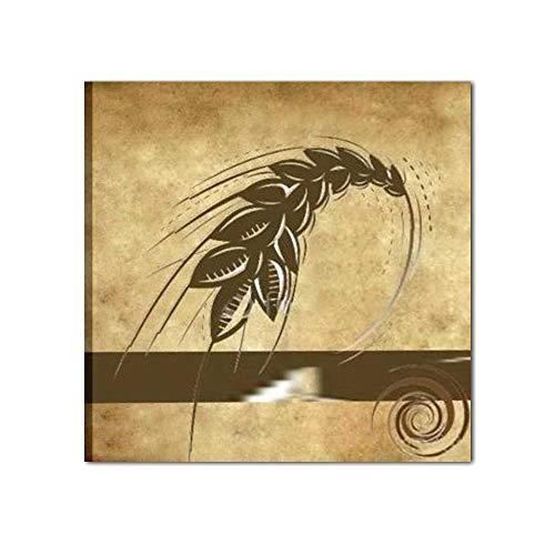 I colori del caribe quadri olio su tela dipinti a mano beige marrone spiga di grano marrone alta qualita' made in italy dakar