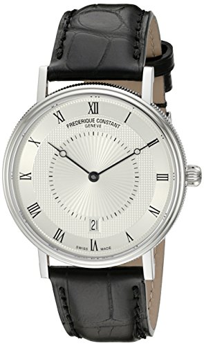 Frederique Constant Men's Slimline Classics Automatic 39mm Black Alligator Leather Band Watch FC-306MC4S36