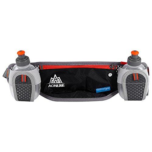 Lauftasche Hüfttasche Bauchtasche Für Outdoor-Aktivitäten Laufen Wandern Trekking Camping Für Männer Und Frauen Schwarz