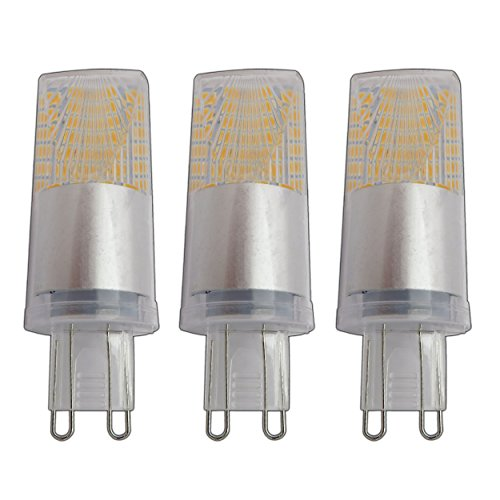 3x G9 LED 5 Watt warmweiß 2800K Optical Prisma 220/230V Modell 2018/2019 Lampe Leuchte Leuchtmittel Halogenersatz 3er Pack
