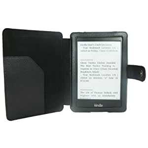 MWG Premium All-New Kindle Paperwhite 2013 Smart Cover / Case with Auto Sleep Wake Function - [Total Satisfaction Guarantee] - PU Leather & Microsuede - Onyx Black