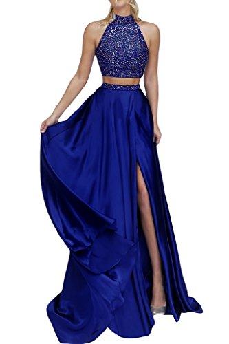 ivyd ressing robe col montant fente 2PARTIE Party Prom robe robe du soir bleu roi