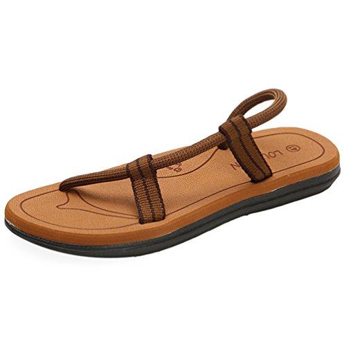 CHENGYANG Herren Damen Unisex Flip Flops Schuhe Strand Slipper Flip-Flops Zehentrenner Sandalen Khaki#Herren