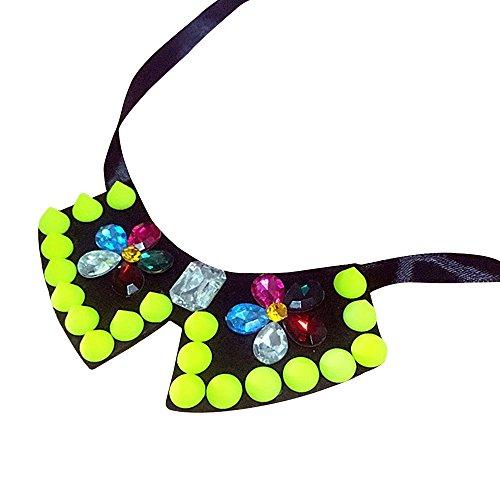 Eizur Einstellbare Hund Katze Haustier Fliege Krawatte Halsband Bowknot Krawatten Halsschmuck Necktie Hundekrawatte Halsband für Puppy Hunde Katzen--Grün