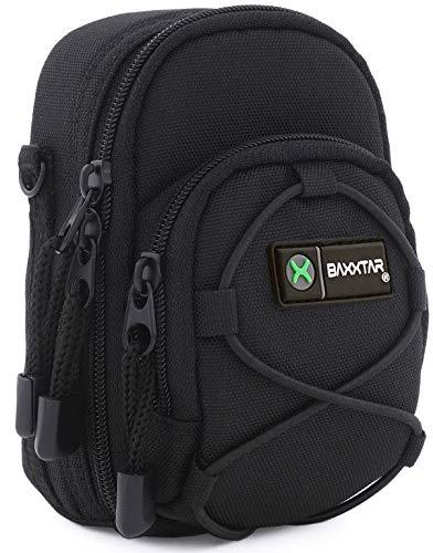 Bundlestar Blackstar V4 Kameratasche schwarz Größe (L) z. B. für - Coolpix A900 A1000 S9900 - Lumix DC TZ202 TZ96 TZ91 DMC TZ101 TZ81 LX15 - PowerShot SX730 SX740