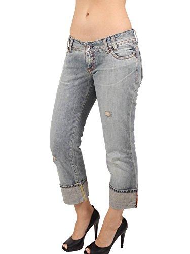 MISS SIXTY Damen Jeans Sweet Capri in Blau Größe 29 (Hose Sixty Miss Aus Baumwolle)