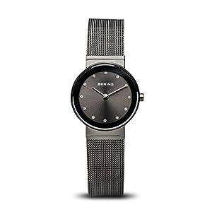 BERING Damen-Armbanduhr Analog Quarz Edelstahl 10126-077