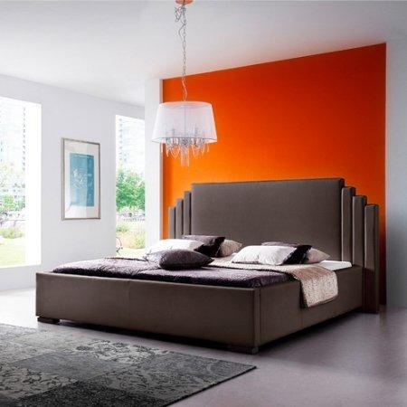 """Schlichter Möbel Polsterbett """"Ghost"""" (Braun, 140 x 200 cm)"""