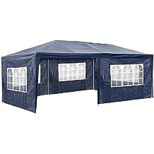TecTake Carpa pabellón tiendas de para eventos y fiestas jardin 3x6 m | azul