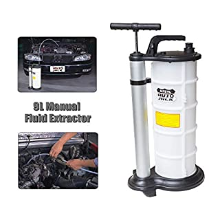 Autojack 9L Vacuum Oil Fluid Extractor Transfer Pump Car Fuel Petrol Coolant Water Manual