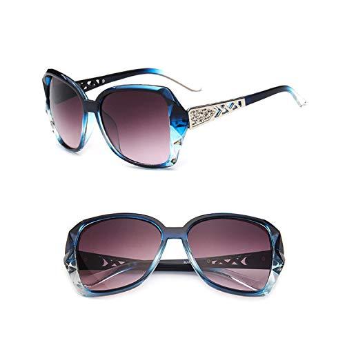 Sportbrillen, Angeln Golfbrille,NEW Vintage Big Frame Sunglasses Women Brand Designer Gradient Lens Driving Sun Glasses UV400 Oculos De Sol Feminino Blue Gray