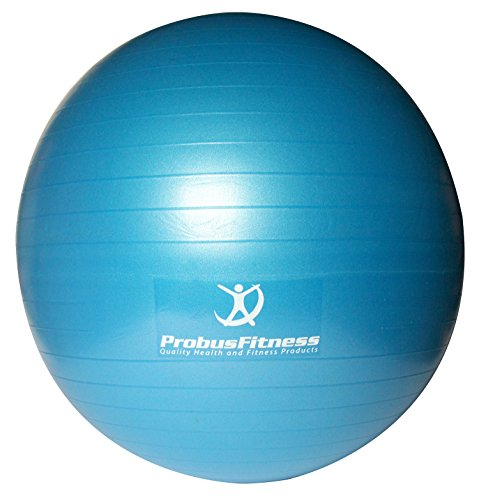 Probus pilates fitness Ball, blu con 3 DVD per esercizi di pilates – include pompa e kit bag – anti scoppio grande 65 cm