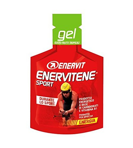 Enervit Enervitene Sport Gel Geschmack Tropical Fruits Packung mit 24 Gels von 25ml - Fruit Gel