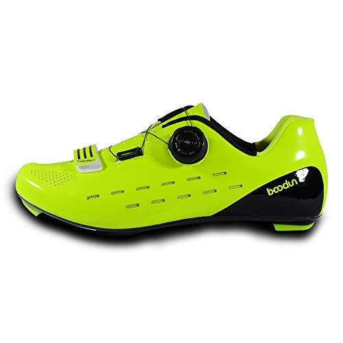 Ablerfly 39-45 Fahrradschuhe mit Carbon-Sohle oder Nylon-TPU-Sohle für Straße und MTB, Sportschuhe, Innenschuhe 50 grün