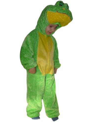 Kleinkind Kostüm Froschkönig - Frosch-König Kostüm, F18 Gr. 98-104, für Kinder, Froschkönig-Kostüme Frösche für Fasching Karneval, Klein-Kinder Karnevalskostüme, Kinder-Faschingskostüme, Geburtstags-Geschenk Weihnachts-Geschenk