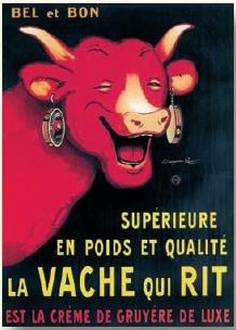 editions-clouet-29002-targa-in-metallo-motivo-pubblicita-vache-qui-rit-di-rabier-dimensioni-15-x-21-