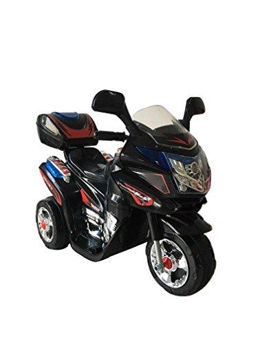 Elektro Kindermotorrad Kinderauto Elektrofahrzeug Polizei Kinder Motorrad Akku (Schwarz)