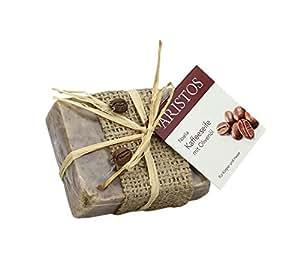 Olivenölseife mit Kaffee | Haarwaschseife | strapazierte Haut | ARISTOS (1x 100 g)