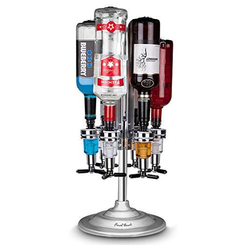 Rack De Vino Creativo Dispensador De Vino Blanco Bar Butler 6 Botellas Dispensador Rotativo Sostenedor De La Bebida Titular De La Botella De Vino Dispensador De CóCtel De Vino