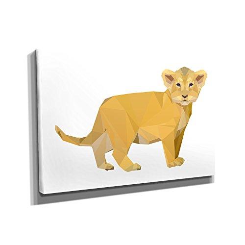 Nerdinger Poly Löwe - Kunstdruck auf Leinwand (30x20 cm) zum Verschönern Ihrer Wohnung. Verschiedene Formate auf Echtholzrahmen. Höchste Qualität. (Disney Simba Kostüm)