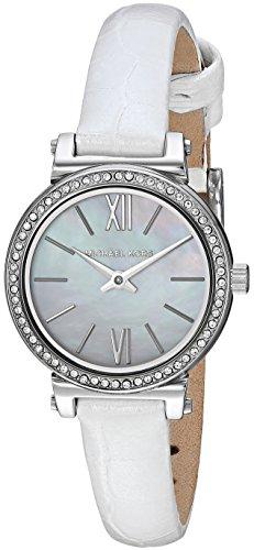 Michael Kors Damen Analog Quarz Uhr mit Leder Armband MK2714