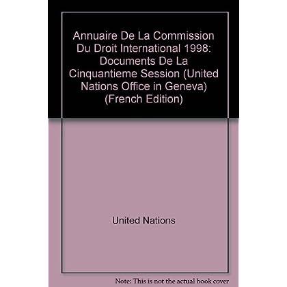Annuaire De La Commission Du Droit International 1998