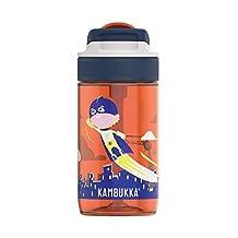 Kambukka Lagoon Water Bottle with Spout Lid, Kids Water Bottle, Travel Mug, Leak Proof, BPA free, Dishwasher Safe, Tritan body - will not stain or retain odors, 400ML, Flying Superboy, KAM11-04019