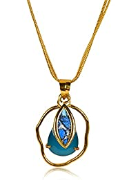 Miranika Gold Plated Pendant for Women (Blue)(C1D1APS2)