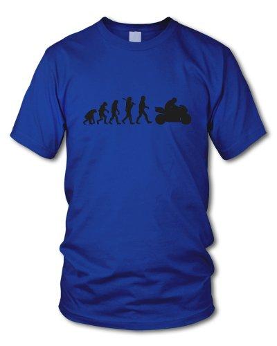 shirtloge - EVOLUTION BIKER - KULT - Fun T-Shirt - in verschiedenen Farben - Größe S - XXL Royal (Schwarz)